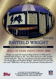 2006 Topps Hall of Fame Tribute #RWR Rayfield Wright back image