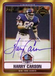 2006 Topps Hall of Fame Autographs #HOFHC Harry Carson