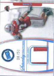 2006 Press Pass Legends Saturday Swatches Platinum #AH A.J. Hawk