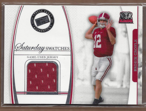 2006 Press Pass Legends Saturday Swatches #BC Brodie Croyle
