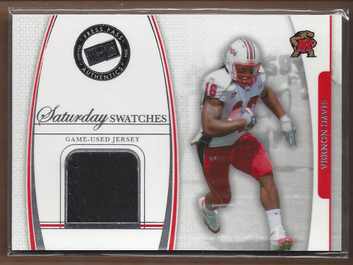 2006 Press Pass Legends Saturday Swatches #VD Vernon Davis