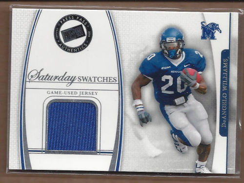 2006 Press Pass Legends Saturday Swatches #DAW DeAngelo Williams