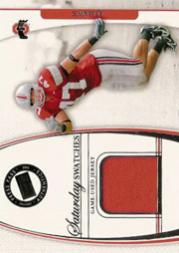2006 Press Pass Legends Saturday Swatches #AH A.J. Hawk