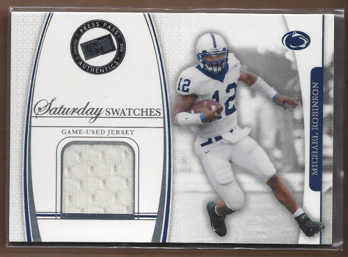 2006 Press Pass Legends Saturday Swatches #MR Michael Robinson