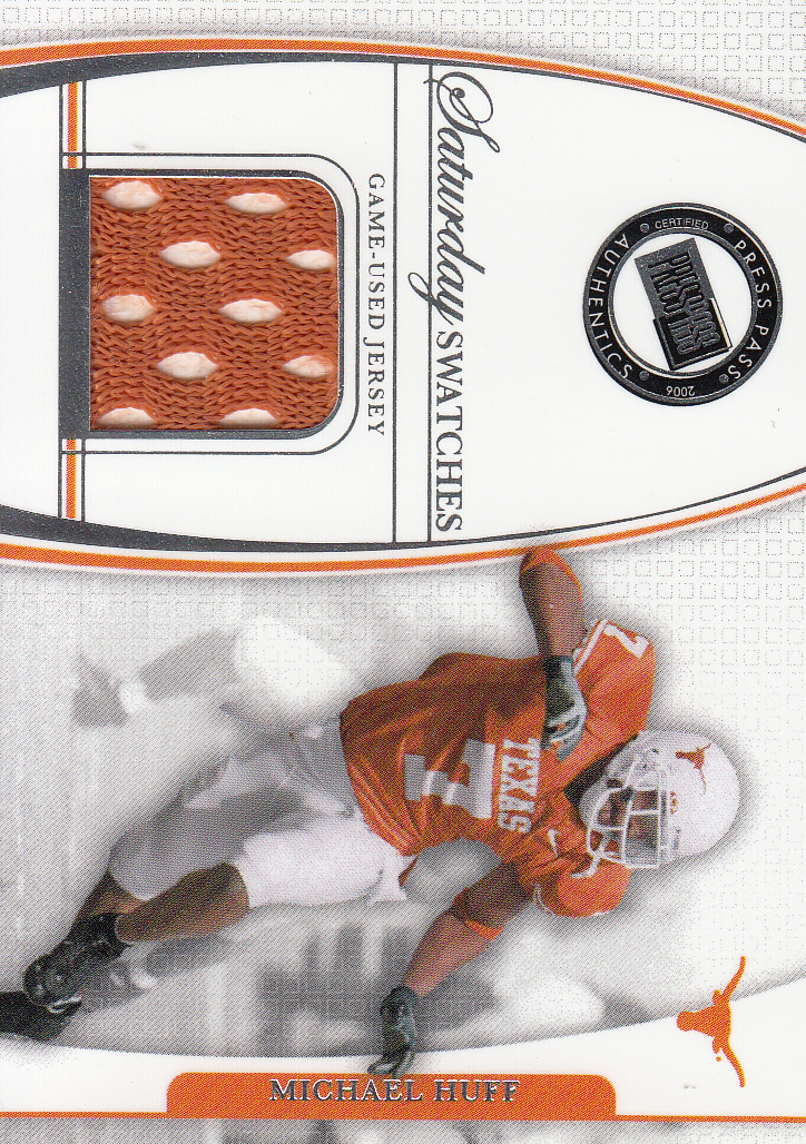 2006 Press Pass Legends Saturday Swatches #MHU Michael Huff