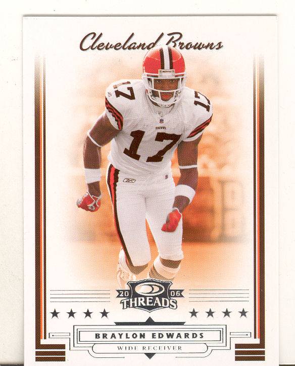 2006 Donruss Threads #1 Braylon Edwards