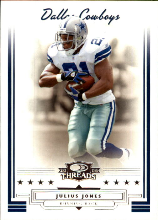 2006 Donruss Threads #3 Julius Jones