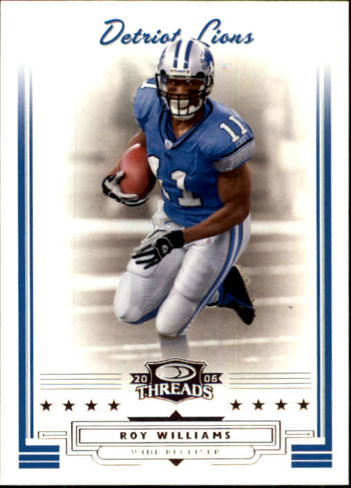 2006 Donruss Threads #9 Roy Williams WR