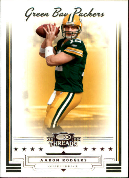 2006 Donruss Threads #10 Aaron Rodgers