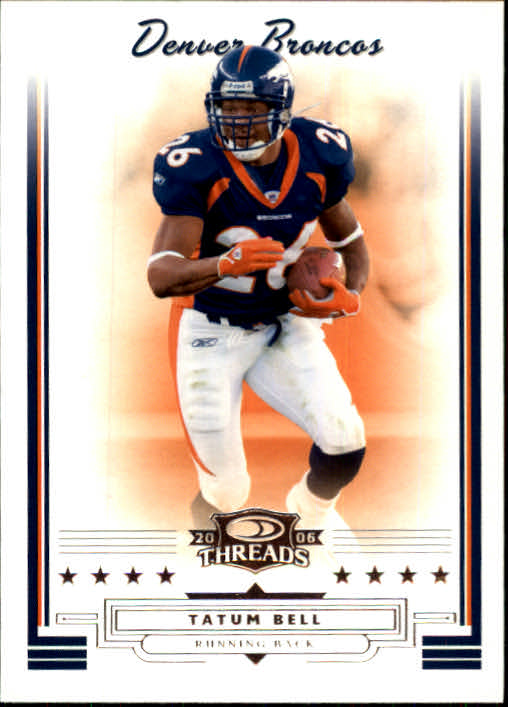 2006 Donruss Threads #11 Tatum Bell