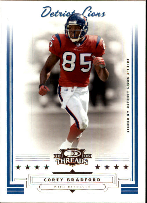 2006 Donruss Threads #13 Corey Bradford