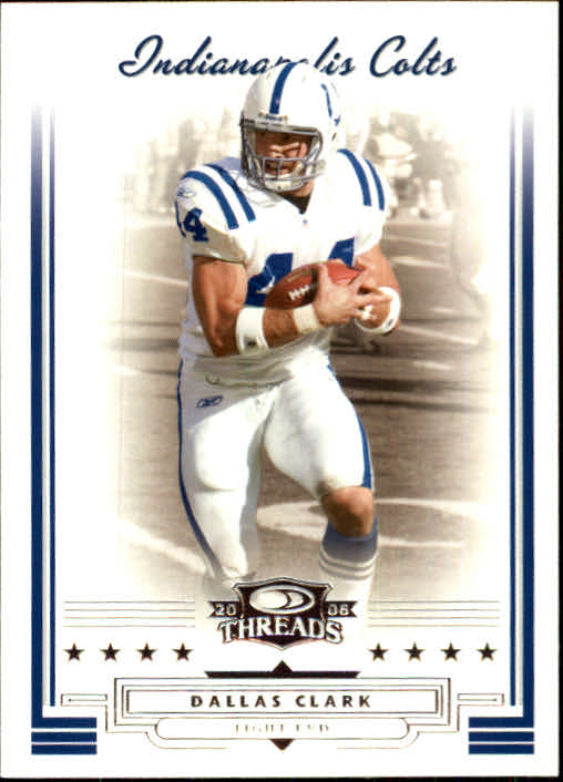 2006 Donruss Threads #14 Dallas Clark