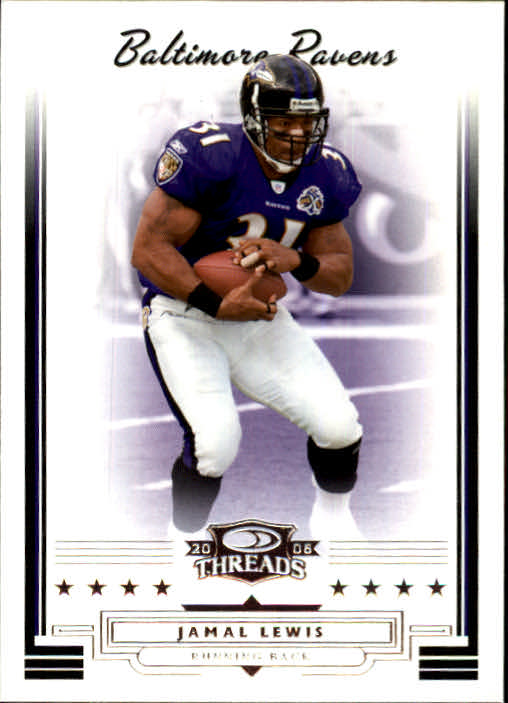 2006 Donruss Threads #25 Jamal Lewis