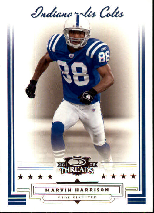 2006 Donruss Threads #50 Marvin Harrison