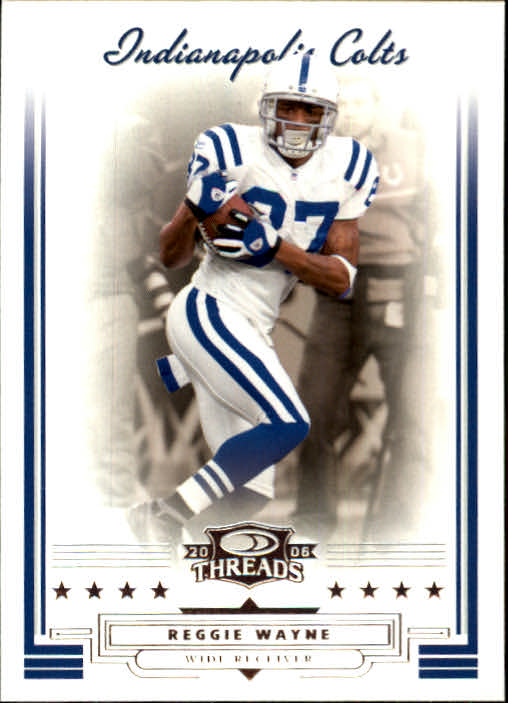 2006 Donruss Threads #52 Reggie Wayne