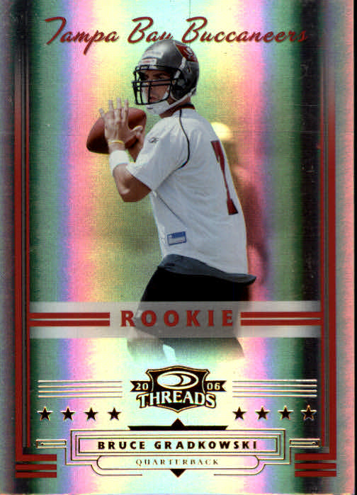 2006 Donruss Threads #154 Bruce Gradkowski RC