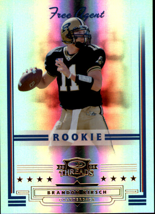 2006 Donruss Threads #157 Brandon Kirsch RC