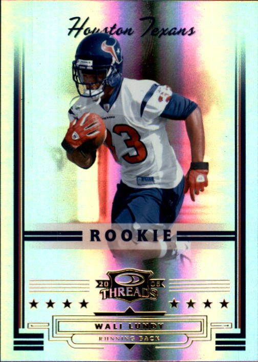 2006 Donruss Threads #161 Wali Lundy RC