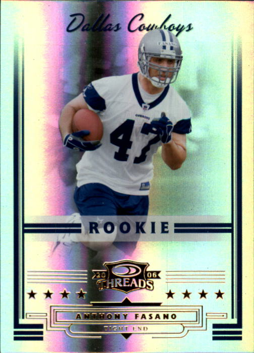 2006 Donruss Threads #166 Anthony Fasano RC