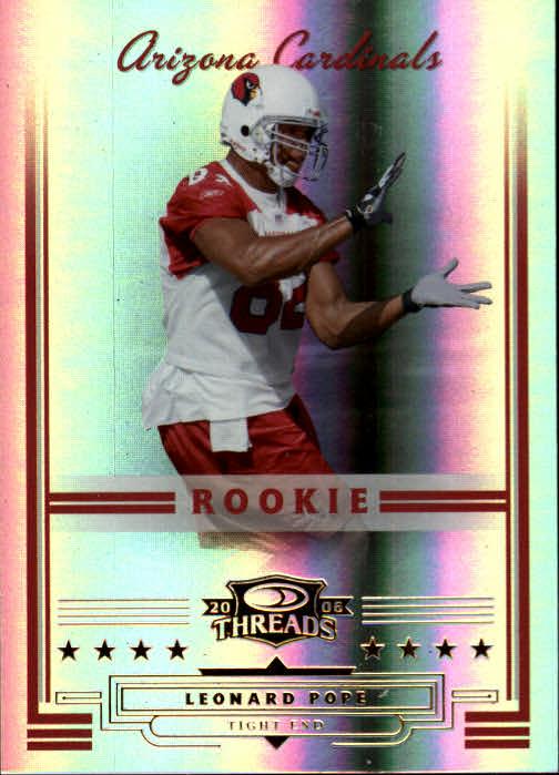 2006 Donruss Threads #168 Leonard Pope RC