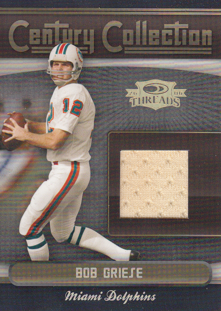 2006 Donruss Threads Century Collection Materials #7 Bob Griese