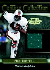 2006 Donruss Threads Century Collection Materials #10 Paul Warfield