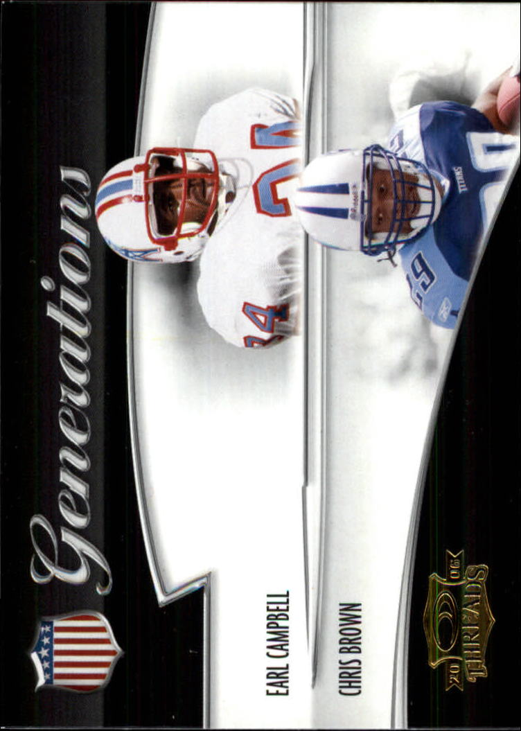 2006 Donruss Threads Generations Gold #1 Earl Campbell/Chris Brown