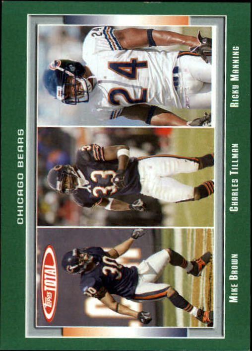 2006 Topps Total #157 Mike Brown/Mike Green/Charles Tillman