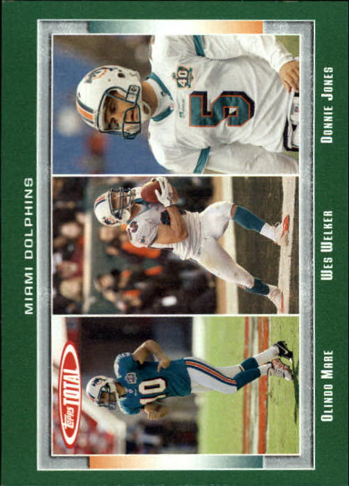 2006 Topps Total #294 Donnie Jones/Olindo Mare/Wes Welker