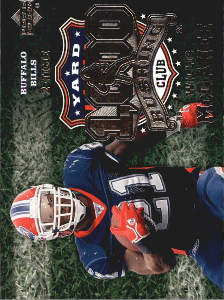 2006 Upper Deck 1000 Yard Rushing Club #1KRWM Willis McGahee