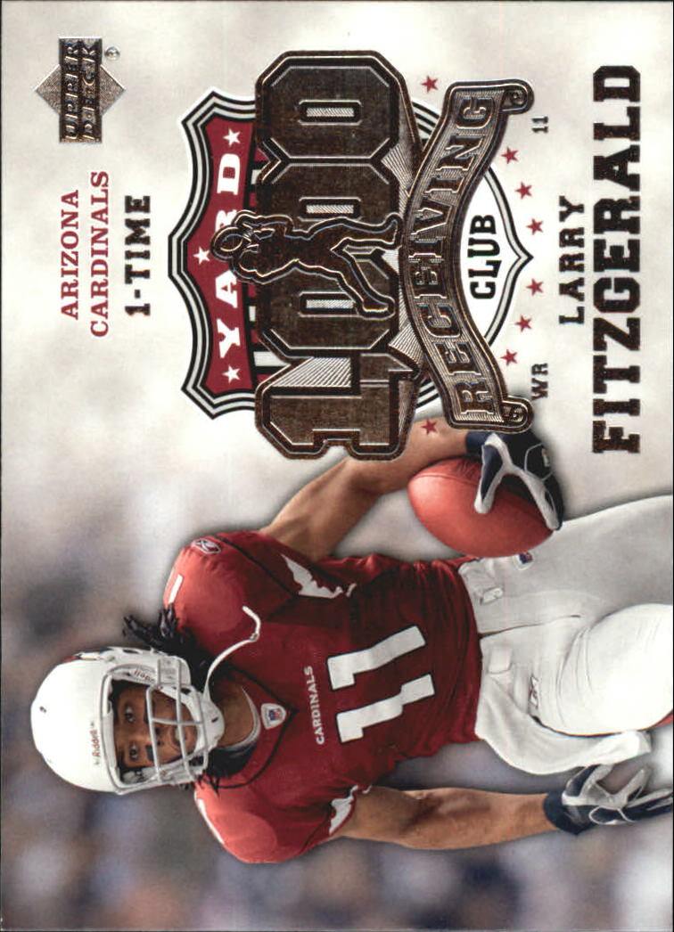 2006 Upper Deck 1000 Yard Receiving Club #1KRELF Larry Fitzgerald