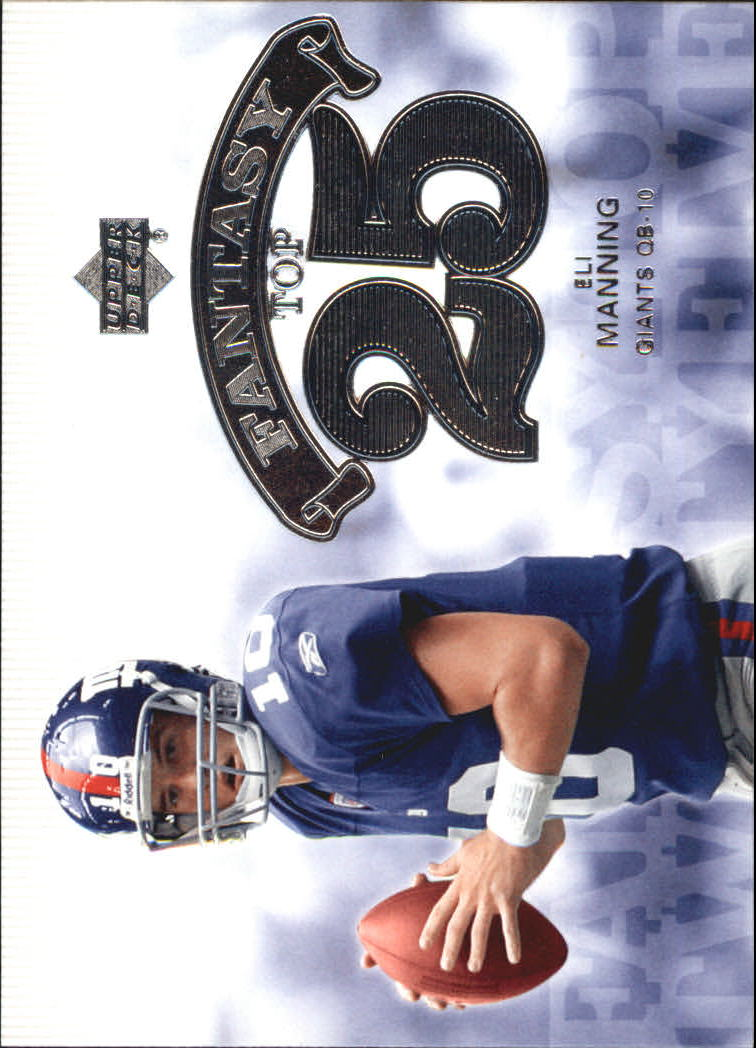 2006 Upper Deck Fantasy Top 25 #F25EM Eli Manning