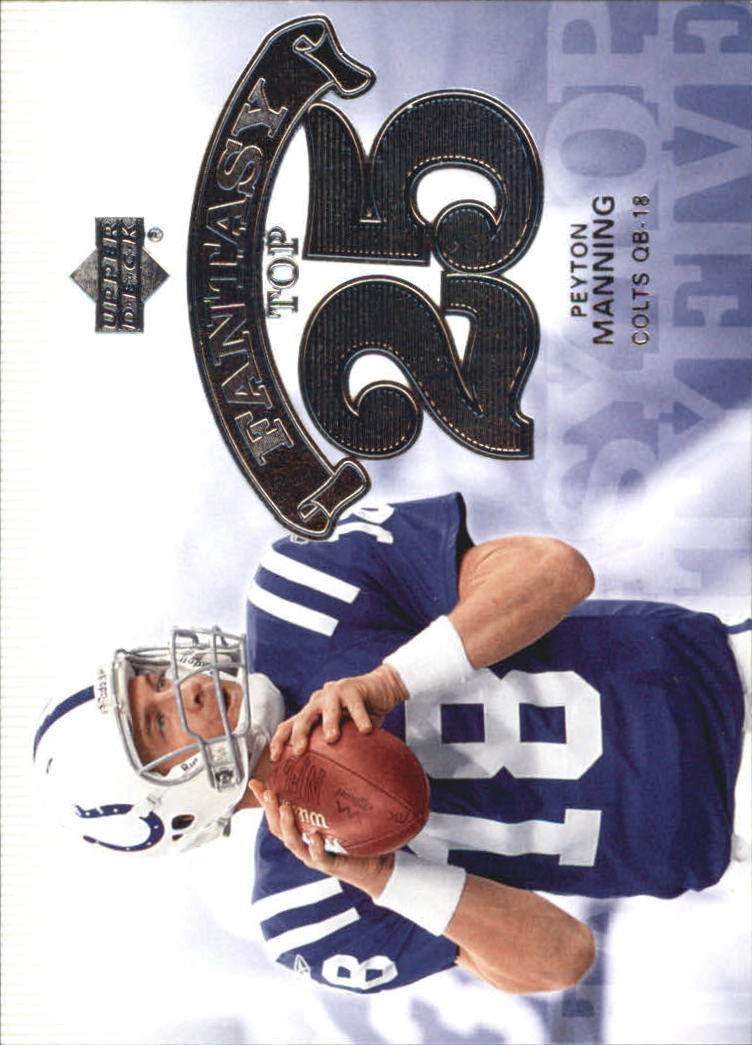 2006 Upper Deck Fantasy Top 25 #F25PM Peyton Manning
