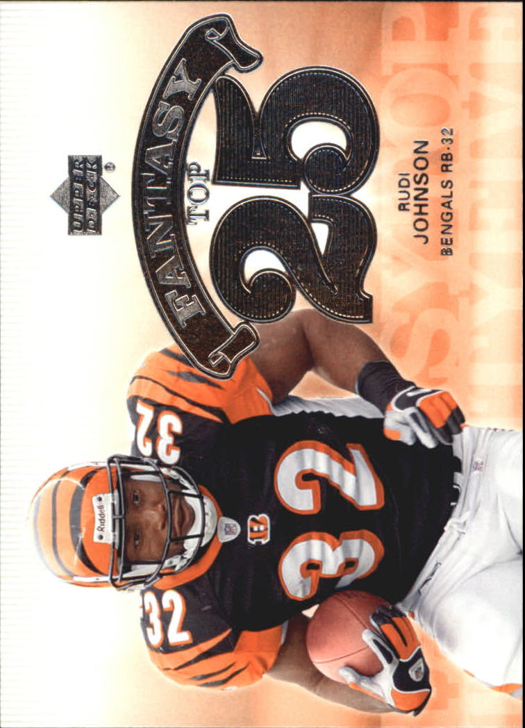 2006 Upper Deck Fantasy Top 25 #F25RJ Rudi Johnson