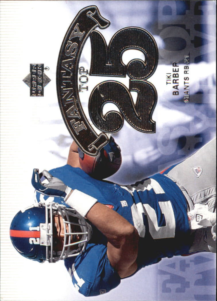 2006 Upper Deck Fantasy Top 25 #F25TB Tiki Barber