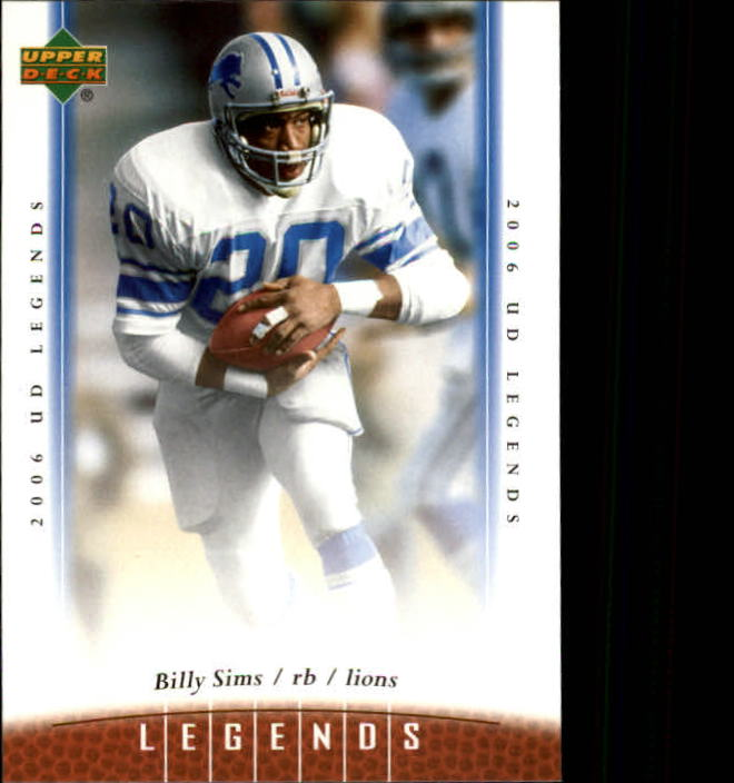 2006 Upper Deck Legends #73 Billy Sims