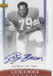 2006 Upper Deck Legends Legendary Signatures #55 Coy Bacon