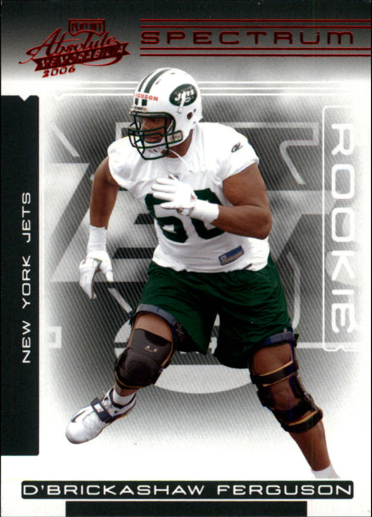2006 Absolute Memorabilia Spectrum Red Retail #175 D'Brickashaw Ferguson