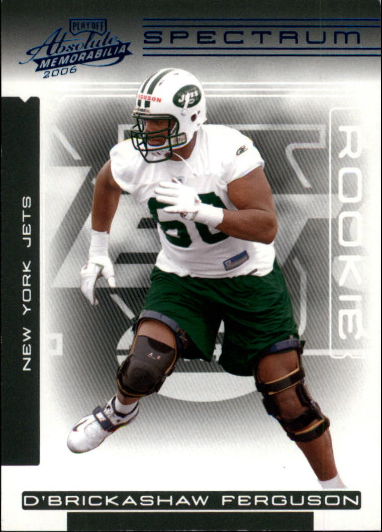 2006 Absolute Memorabilia Spectrum Blue Retail #175 D'Brickashaw Ferguson