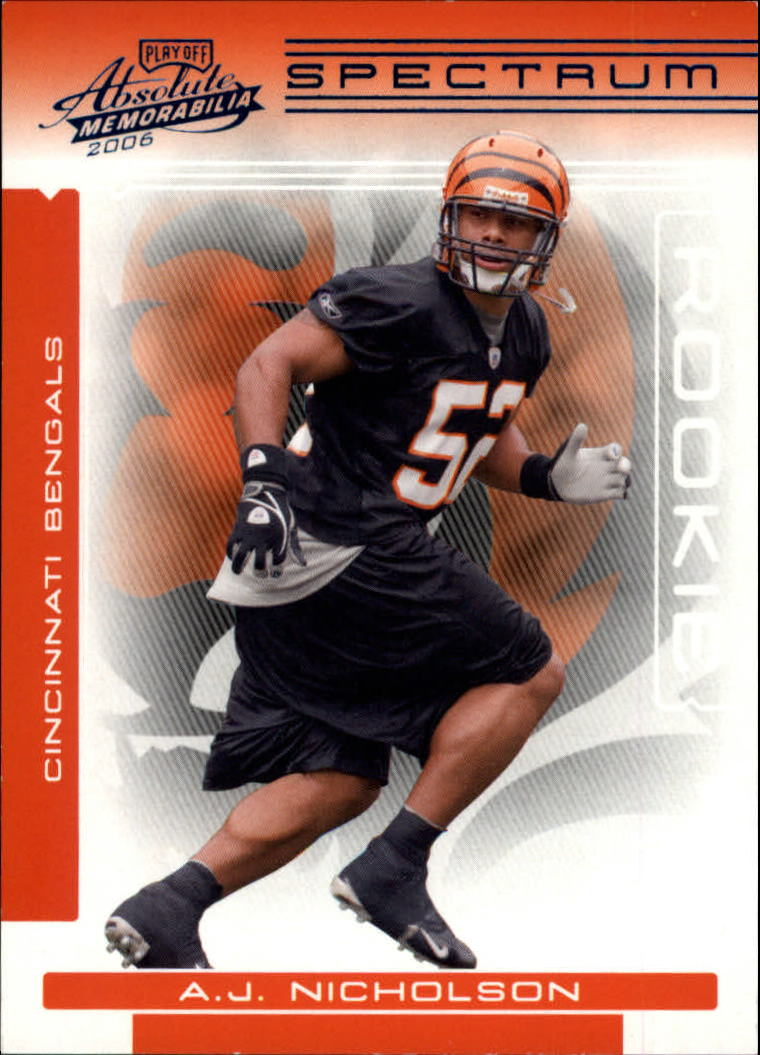2006 Absolute Memorabilia Spectrum Blue Retail #193 A.J. Nicholson