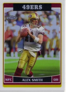 2006 Topps Chrome Refractors #42 Alex Smith QB