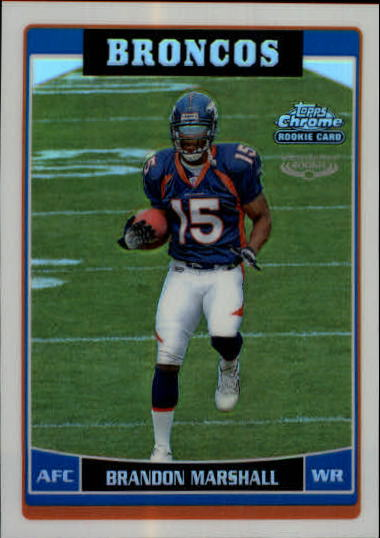 2006 Topps Chrome Refractors #263 Brandon Marshall
