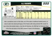 2006 Topps Chrome Rookie Autographs #222 A.J. Hawk A back image