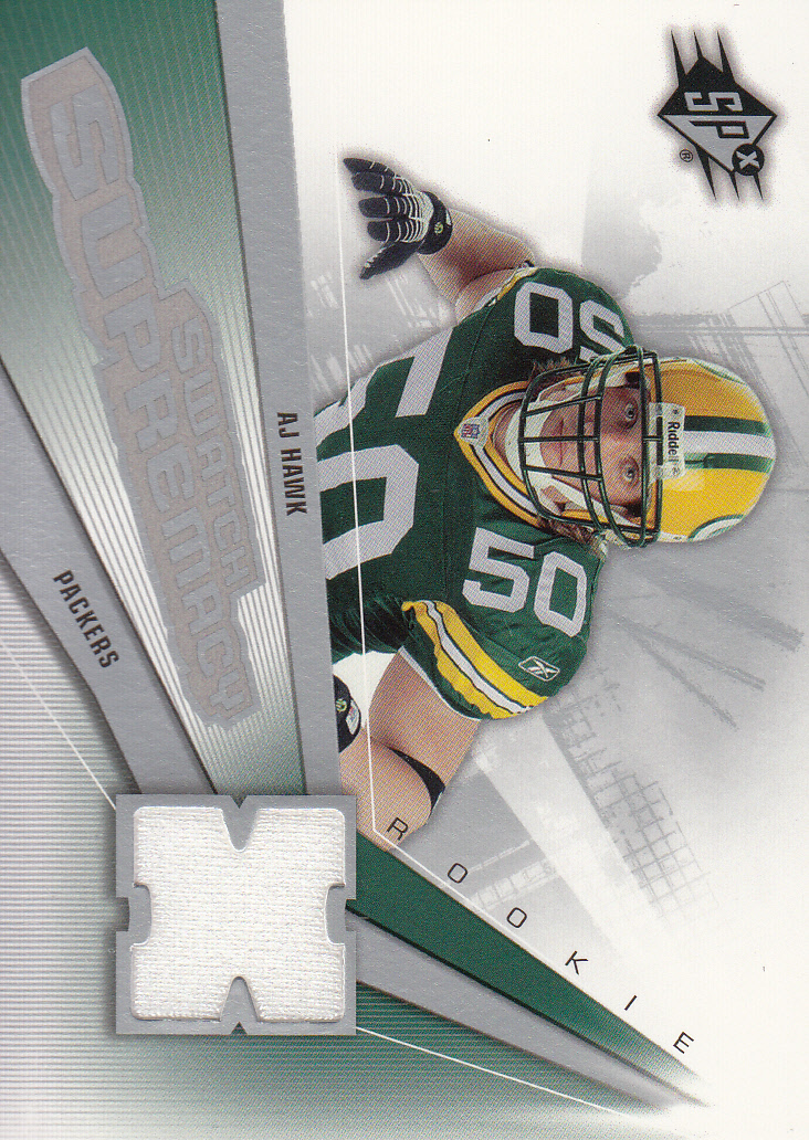 2006 SPx Rookie Swatch Supremacy #SWAH A.J. Hawk