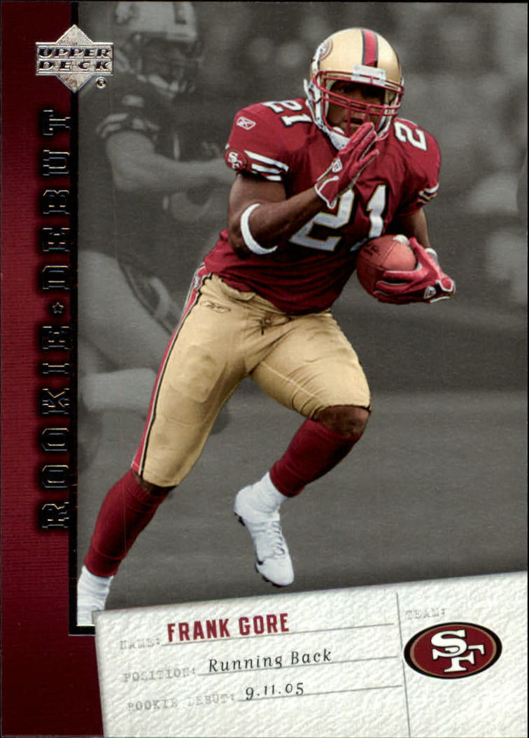 2006 Upper Deck Rookie Debut #84 Frank Gore