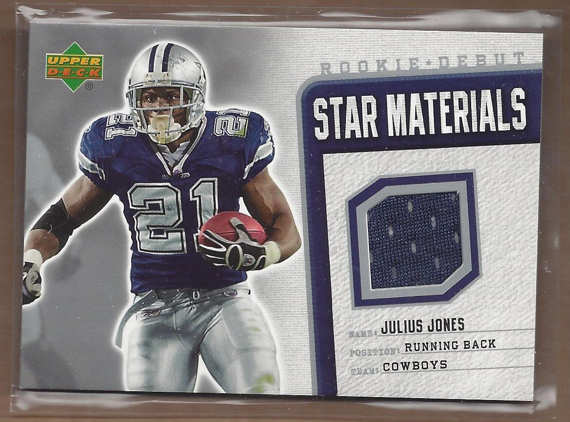 2006 Upper Deck Rookie Debut Star Materials Silver #SMJJ Julius Jones