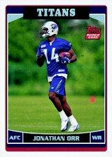 2006 Topps Factory Set Rookie Bonus #R1 Jonathan Orr