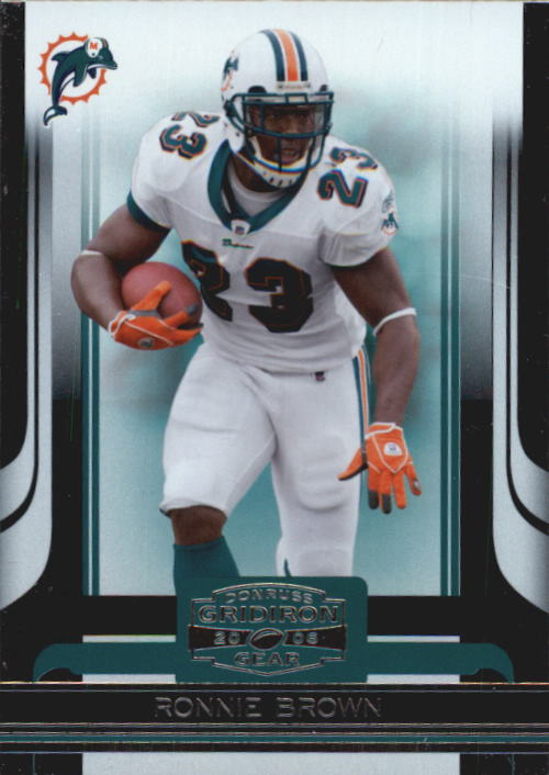 2006 Donruss Gridiron Gear #57 Ronnie Brown