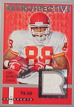 2006 Hot Prospects Retrospective Jerseys #RETG Tony Gonzalez