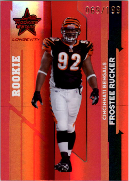 2006 Leaf Rookies and Stars Longevity Target Ruby Parallel #133 Frostee Rucker